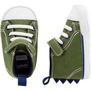 Carter's Dinosaur Baby Sneakers Size 03 m
